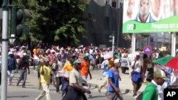 Manifestação da UNITA em Benguela (foto de arquivo)