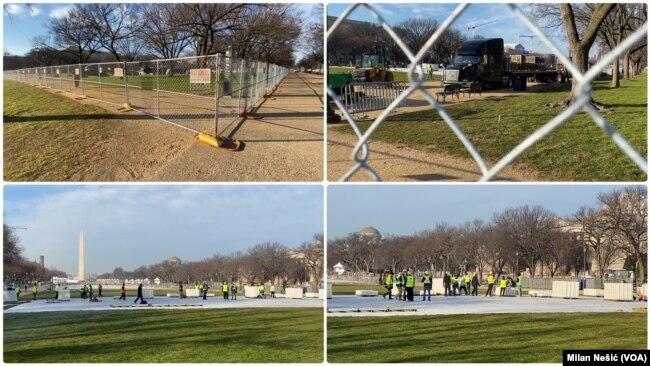 Zatvoreno područje u okolini spomenika Džordžu Vašingtonu