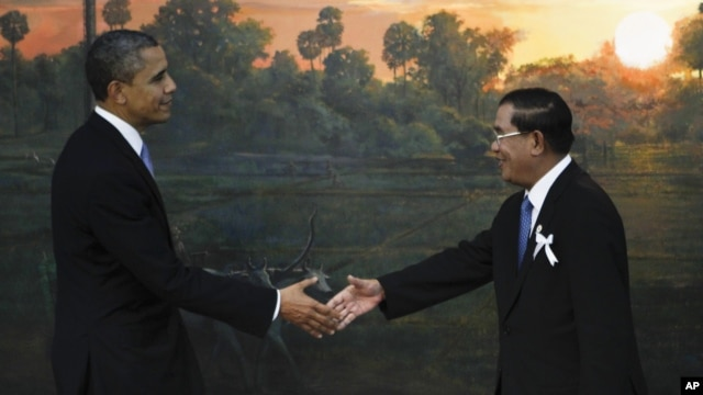 Obama briefly met with Hun Sen on the sidelines of an Asean summit in Cambodian in November, telling him that Cambodia's rights record and election system remain a concern for the US.