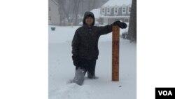 Сніг у передмісті Вашингтона