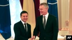 Президент Украины Владимир Зеленский и Генсек НАТО Йенс Столтенберг. Киев, 31 октября 2019.
