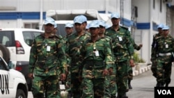 Pasukan penjaga perdamaian PBB di Abidjan, Pantai Gading.