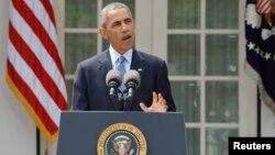 El presidente hace el anuncio del acuerdo con Irán desde la Casa Blanca.