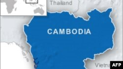 Peta wilayah Kamboja.