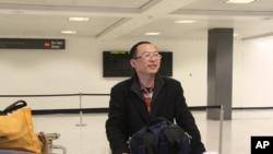 中国异议作家余杰1月11日晚抵达美国首都华盛顿
