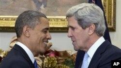 صدر اوباما اور نامزد وزیر خارجہ کیری