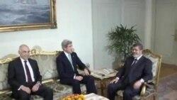 克里承諾繼續援助埃及後抵達沙特訪問