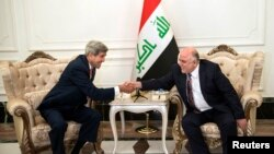 Державний секретар США Джон Керрі та новий прем'єр-міністр Іраку Гайдер аль-Абаді