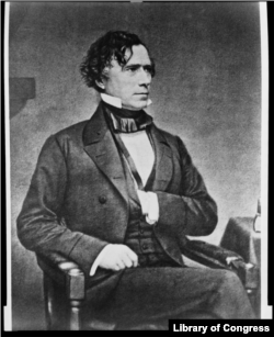 Franklin Pierce photograph by Mathew Brady, between 1855 and 1865