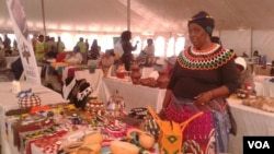 Women displaying their wares at the Zimbabwe-South Africa Trade Fair in South Africa. (Photo: Benedict Nhlapho)