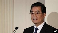 胡錦濤在美國記者追問下回答了中國人權問題。