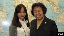 Sasha Gong with Intern Dan Shen