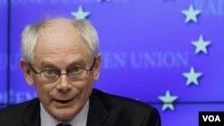 Le président de l'UE, Herman Van Rompuy.