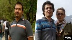 سهیل عربی (سمت چپ)، ساناز الهیاری و امیرحسین محمدیفرد