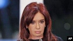 A presidente Cristina Fernandez de Kirchner
