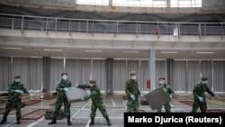 Vojska na Beogradskom sajmu priprema halu za smeštaj pacijenata sa lakšom kliničkom slikom