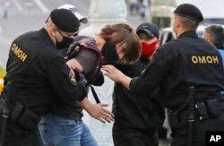 затримання учасників протестів в Мінську 14 липня