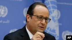 Francuski predsednik Oland govori u UN-u, nedelja, 27. septembar, 2015.
