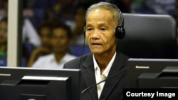 Sem Hoeurn is one of a number of witnesses to testify on the Kampong Chhnang airport construction site. (Courtesy of ECCC)