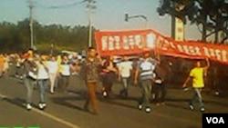 湖北武穴訪民吳有明等在京參加反日示威(天網授權)