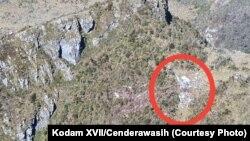 Lokasi jatuhnya helikopter MI-17 milik TNI Angkatan Darat di Pegunungan Mandala, Papua. (Foto: Kodam XVII/Cenderawasih).