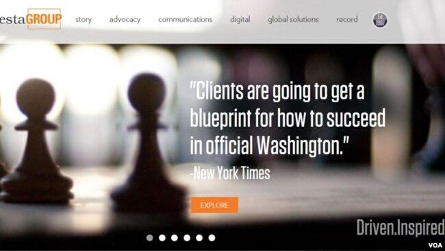 Quảng bá của Podesta trên trang web của công ty vận động hành lang được cho là đã giúp chính phủ Việt Nam có được ủng hộ trong giới lập pháp Mỹ thông qua việc dỡ bỏ cấm vận vũ khí sát thương vào tháng 5/2016.