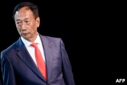 Foxconn Chairman Terry Gou at a Foxconn facility at the Wisconsin Valley Science and Technology Park, June 28, 2018 in Mount Pleasant, Wisconsin.