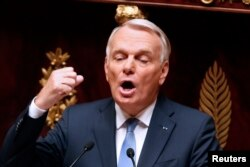 FILE - France's Foreign Minister Jean-Marc Ayrault.