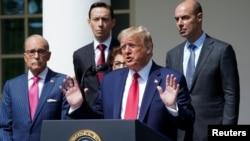Президент США Дональд Трамп під час прес-конференції 5 червня 2020 року