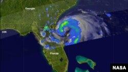 La tormenta Beryl golpeó la costa cerca de Jacksonville, Florida. (NASA)