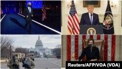 Tư liệu: Những ảnh đáng nhớ về thủ đô Washington, Hoa Kỳ: TT tân cử Joseph Biden, TT sắp mãn nhiệm Donald Trump, Chủ tịch Hạ viện Nancy Pelosi và ảnh chụp Lực lượng Vệ binh Quốc gia tại Quốc hội Hoa Kỳ.