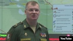 Juru bicara Kementerian Pertahanan Rusia, Mayor Jenderal Igor Konashenkov (foto: dok).