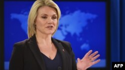 헤더 노어트 미국 국무부 대변인.