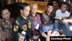 Presiden Joko Widodo memberikan tanggapan soal Pemilihan Presiden Amerika Serikat di Tangerang, Banten hari Rabu 9 November 2016. (Foto Biro Pers Kepresidenan).