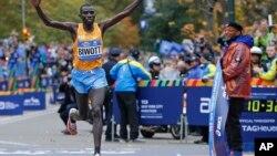 Stanley Biwott a remporté le marathon de New York le 1er novembre 2015.
