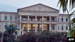 Le palais de justice du nouveau quartier administratif de Malabo II, à Malabo, Guinée équatoriale, 25 janvier 2015.