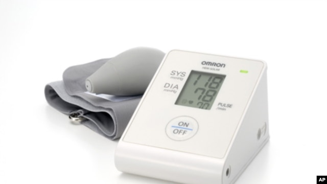 A small solar panel on the rear of the Omron HEM-Solar blood pressure monitor provides power for up to 300 readings.