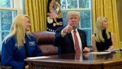 အာကာသထဲ အခ်ိန္အၾကာဆံုးရွိသူကို Trump ဖုန္းဆက္ခ်ီးက်ဴ