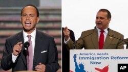 Los representantes Luis Gutiérrez, demócrata, y Mario Díaz-Balart, republicano, siguen buscando un punto medio para aprobar la reforma migratoria.