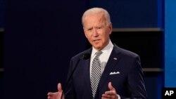 Ứng viên tổng thống Mỹ Joe Biden trong cuộc tranh luận hôm 29/9.