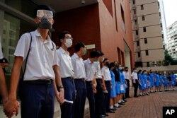 La protesta del lunes 9 de septiembre se suma a las ocurridas durantes más de dos meses en Hong Kong.