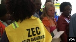 FILE: Zimbabwe voter registration 2018 election.