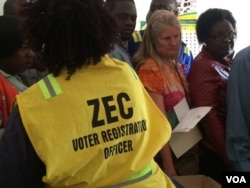 Zimbabwe voter registration 2018 election.