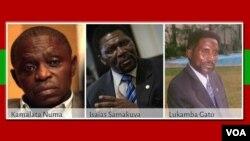 Os três candidatos à liderança da Unita.