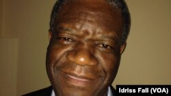 Le Dr Denis Mukwege, lauréat du prix Sakharov 2014 (Photo Idriss Fall, VOA)