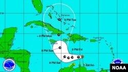 Tropical storm Matthew's location, Sept. 30, 2016. (Photo: NOAA)