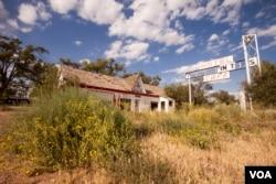 A deserted motel in Glenrio, New Mexico.