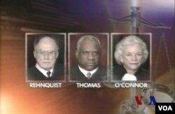 美國聯邦最高法院大法官奧康納及湯馬斯等