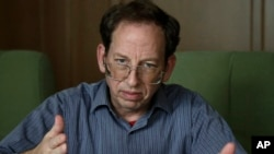 Jeffrey Fowle, an American detained in North Korea, speaks to the Associated Press in Pyongyang on Sept. 1, 2014.