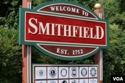 维吉尼亚史密斯菲尔德小镇招牌